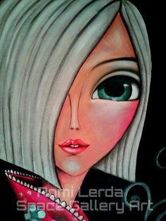 Romi Lerda Happy Paintings, Arte Pop, Art Journal Inspiration, Whimsical Art, Face Art, Mixed Media Art, Art Girl, Pop Art, Art Drawings