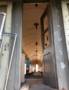 Abandoned passenger rail car Yreka California