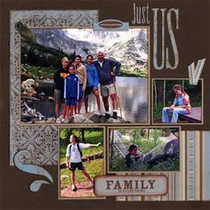Family vacation layout - love the colors and the geographic layout.