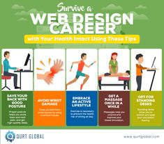 Web Design Career, Stay In Shape, Infographics, Save Yourself, The Help, Massage, Survival, Exercise, Health
