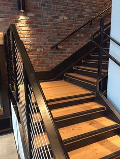 Douglas fir stair treads and landing, Burns & Smith Apts, Seattle, WA