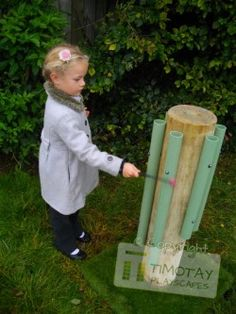 """Melody Pole - every playground should have one of these, and I'm sure a musical parent would help with it."""