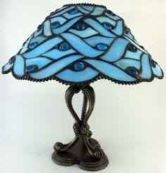 leaded glass shade   Blue Geometric Tiffany Light courtesy www.sxc.hu Don'tBblu