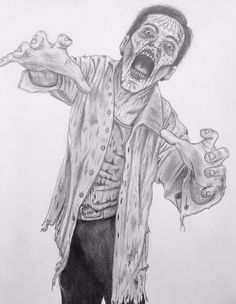 Walking dead pencil drawing!!!
