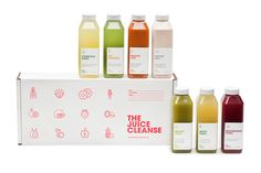Nice, simple, clean packaging for a juice cleanse package for The Juice Truck [run by our friend/client @Joel Berman's son!] Particularly like the square bottles, which cuts down on transportation space wasted.