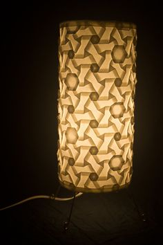 Diy lampshade for fairy lights learn how to make a small paper origami tessellation luminary lamp hexagons and triangle twists aloadofball Image collections