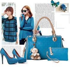 Blue - 48 USD Lady Dior, Blue, Fashion, Moda, Fasion, Trendy Fashion, La Mode