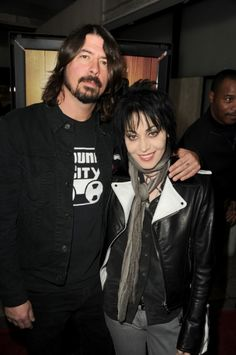 Dave Grohl and Joan Jett arrive at the premiere of the 'Sound City' documentary in Hollywood, CA.