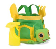 Tootle Turtle Kids' Gardening Tote Set : Its fun to help in the garden when you have a set of sturdy, easy-clean tools specially designed for young gardeners. Tootle helps keep them all organized with convenient side pockets in this made-to-last fabric tote with durable woven handles.