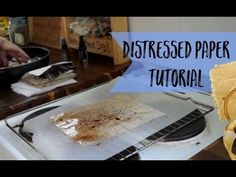 Here's my quick video on how I'm staining paper with hot tea. Notice the apron -- it gets messy doing this! - - - - Shop with me: https://www.etsy.com/shop/l...