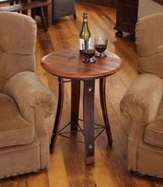 Wine Barrel Occasional Table - Acacia