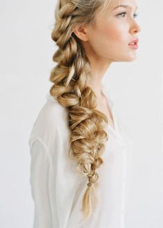 Get ready for Valentine's day: The messy braid - classy understatement rather than overdone. #hair #valentine