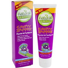 The Natural Dentist Cavity Zapper Fluoride Gel Toothpaste, Berry Blast, 5 oz: Your kids want fun and a taste they like from their toothpaste. You want a proven cavity fighter they will use. Tooth Enamel, How To Prevent Cavities, Health And Wellness, Berry, How To Remove, Stains, Science, Personal Care