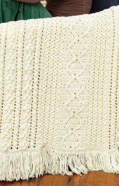 Heirloom Stitches Throw Crochet Pattern