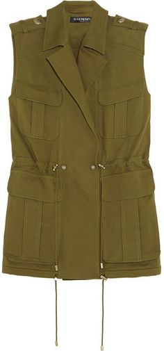 Balmain Cotton-gabardine vest on shopstyle.com