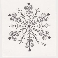 Another snowflake tattoo idea. Paper Snowflake Template, Paper Snowflakes, Christmas Snowflakes, Christmas Rock, Christmas Crafts, Xmas, Zentangle Patterns, Embroidery Patterns, Snow Flake Tattoo