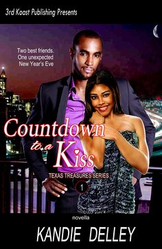 """eBook """"Countdown to a Kiss""""  cover design.  Now available on Amazon Kindle and B&N Nook .  http://www.kandiedelley.com/album/countdown-to-a-kiss-2/"""