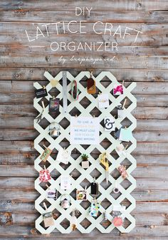 DIY Lattice Craft Or