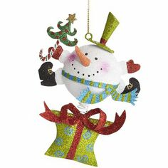 Whimsy Snowman Ornament.  $5.95  Pier One