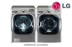 LG Graphite Steel Front-Load Washer + Dryer Pair