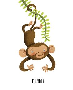 Patrick Corrigan on Behance Crocodile Illustration, Monkey Illustration, Children's Book Illustration, Character Illustration, Animal Illustrations, Monkey Drawing, Cute Monkey, Christmas Drawing, Kids Prints