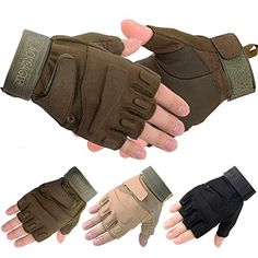 Men's Cycling Gloves - Military Halffinger Fingerless Tactical Ultra Grip Sunresistant Hunting Riding Cycling Climbing Gloves >>> Check out this great product.