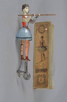 Miss Blondin toy and box were designated as EPL 689 and were made by Ernst Paul Lehmann Patenwerk in Brandenberg, Germany from 1890 to 1945.