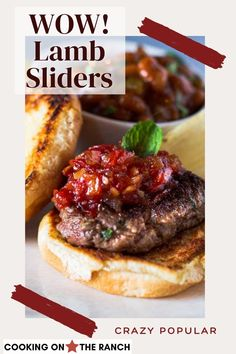 If you're looking for small bite burger recipes, take a look at these Lamb Sliders with Tomato Chutney. Ground Lamb burgers seasoned with mint and rosemary and topped with a sweet tomato ginger chutney... You've got to give these a try. A recipe from a famous Colorado Resort. lamb recipes | ground lamb | lamb burgers Lamb Burger Recipes, Lamb Recipes, Grilling Recipes, Grilled Vegetable Recipes, Grilled Chicken Recipes, Healthy Sandwiches, Sandwiches For Lunch, Recipe Using Tomatoes, Lamb Sliders