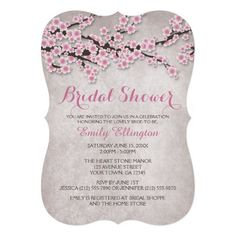 rustic pink cherry blossom save the date cards spring or summer floral pink printed flat cards pinterest cherry blossoms cherries and weddings
