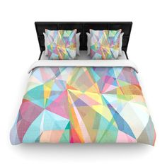 "Mareike Boehmer ""Graphic 32"" Rainbow Abstract Fleece Duvet Cover 