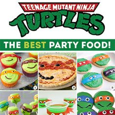 The BEST Teenage Mutant Ninja Turtle party food ideas. From the pizzas to the cute desserts, party planning is easy with this TMNT party food roundup!