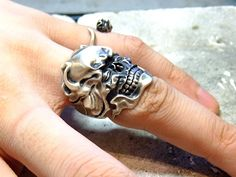 Hand made skull silver ring by Germy by germy87 on DeviantArt