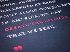 Inspiring and patriotic words from President Obama, perfect to hang on your wall. Sold exclusively at the OFA store.