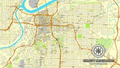 Belgrade, Serbia, printable vector street City Plan map, full ...