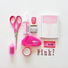 #scrapbooking moodboard - pink