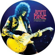 """Jimmy Page Burn Up on Limited Edition Picture Disc LP Limited edition 12"""" picture disc vinyl pressing of these rare, early recordings by legendary Led Zeppelin guitarist Jimmy Page. The appropriately"""