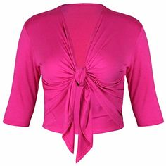 PurpleHanger Womens Plus Size Tie Shrug Bolero Cardigan Shrug Cerise 1820 * Find out more about the great product at the image link.
