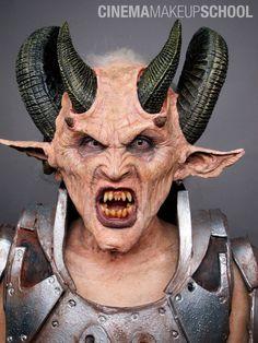 Cinema Makeup School  |  Luis Vega | Demon special fx halloween mask makeup
