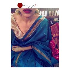 I've always treasured my Mom's gorgeous silk sarees and all of those interesting stories of how she possessed them. Cotton Saree Blouse, Saree Dress, Simple Sarees, Trendy Sarees, Indian Dresses, Indian Outfits, Indian Clothes, Saree Jewellery, Modern Saree