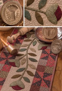 Flower Vines Table Runner from  Primitive Style by Martingale