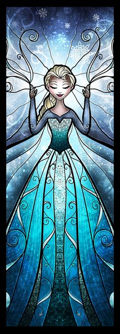 Artist creates beautiful stained glass Disney art