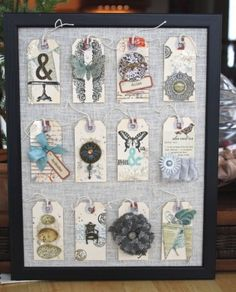 love this tag display from Christine