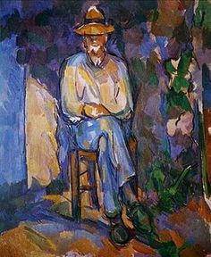 Paul Cézanne, The Gardener Vallier circa 1906. Vallier was the gardener and odd-job man at Cézanne's house near Aix-en-Provence. This is one of six portraits of him, and was probably painted in the summer and autumn of 1906, not long before Cézanne's death in October that year. Tate