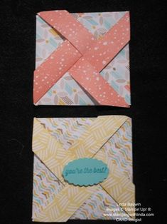 Pinwheel Fold_Linda BauwinBiggest Sale of the Year Jan. 6-March 31, 2015 Linda Bauwin – Your CARD-iologist  - Helping you create cards from the heart.  www.stampingwithlinda.com  Visit my YouTube Channel Linda Bauwin & check out my Stamp of the Month Kits