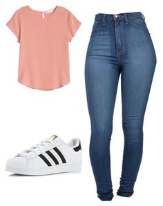 """Outfit #69"" by malayam ❤ liked on Polyvore featuring H&M and adidas"