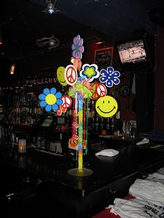 60's theme Hippy love centerpiece by The Prop Factory, via Flickr