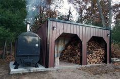 Most current Pics outdoor Wood Stove Thoughts Whilst solid wood is one of eco-friendly heating up technique, this in no way seems to be discussed within fed. Outdoor Wood Burning Furnace, Outdoor Wood Burner, Wood Burner Stove, Wood Stoves, Firewood Shed, Firewood Storage, Outdoor Living, Outdoor Decor, Outdoor Ideas