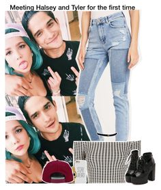 """""""Meeting Halsey and Tyler for the first time"""" by aileen2704 ❤ liked on Polyvore featuring BDG, Topshop, Casio, H&M, TylerPosey and halsey"""