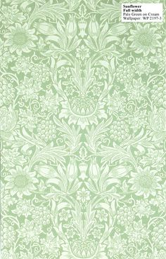 :: William Morris reproduction wallpaper - sunflower, 1879. ::