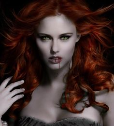 I want to be possessed by a redheaded vampire vixen. To be on a BC Bud high and seduced by my vapiress' fathomless green eyes pulling me under her spell. I would give myself willingly to feel the sting of her bite and the promise of eternity.